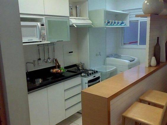Cozinha em casas pequenas