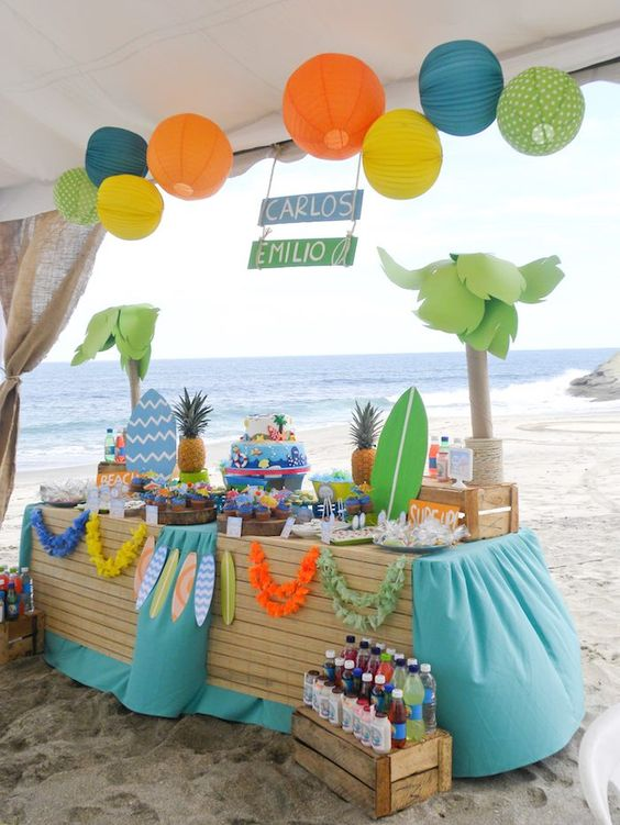 First Birthday Party Ideas Boys Summer