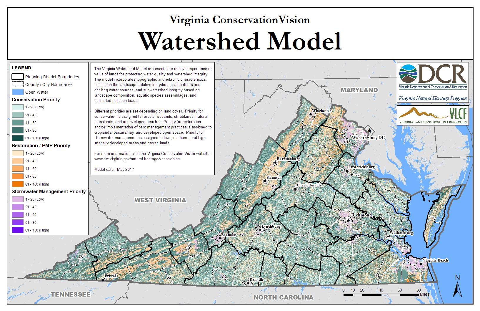 Virginia Conservationvision Watershed Model