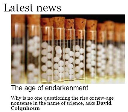 Guardian science web site image
