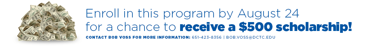 Enroll in this program for the Fall 2015 Semester for a chance to win a $500 Scholarship