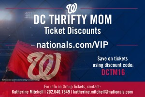 DC Thrifty Mom - Washington Nationals 2016 Discount Code