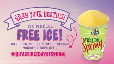 Rita's 25th Annual First Day of Spring Free Italian Ice Giveaway