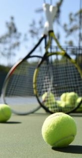 Tennis Ball and Racquets