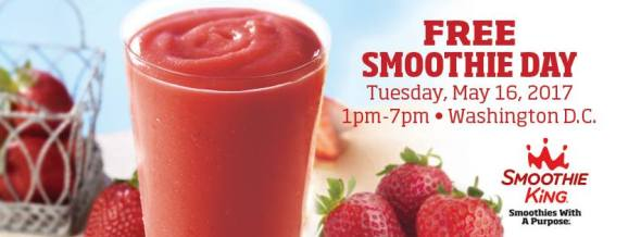 Free Smoothie Day 2017- Smoothie King
