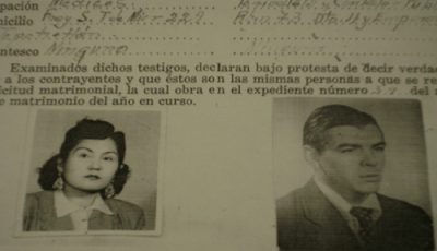 Acta matrimonio Che e Hilda Gadea
