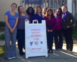Photo of Domestic Violence Resource Clinic staff in October 2015