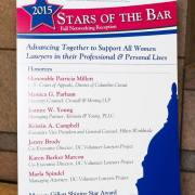 List of Stars of the Bar Award Winner 2015