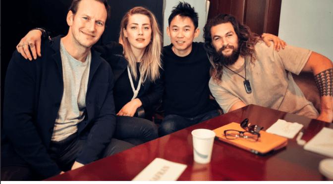 Aquaman actors and director get together