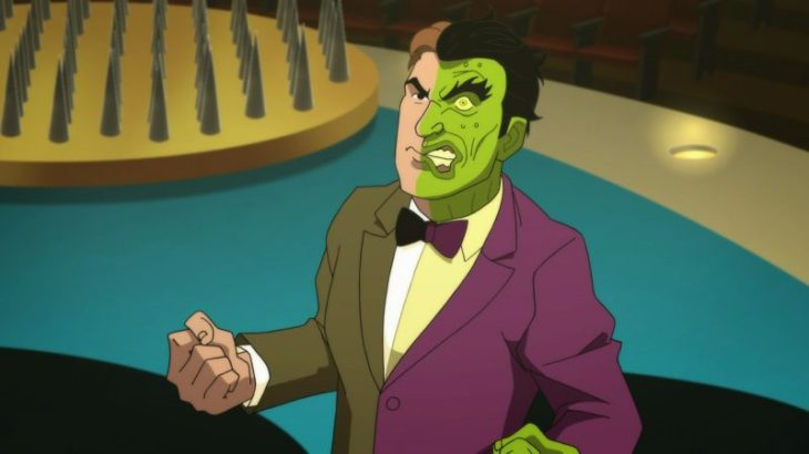 Image result for Batman vs. Two-Face.""