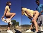 Garota fode com estranho na rua sem camisinha