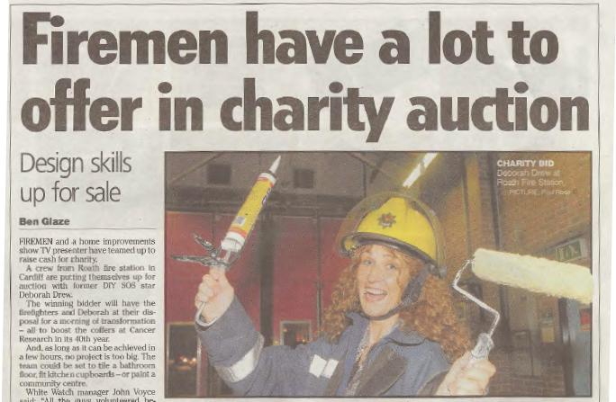 South Wales Echo - 25/10/07: Auction article