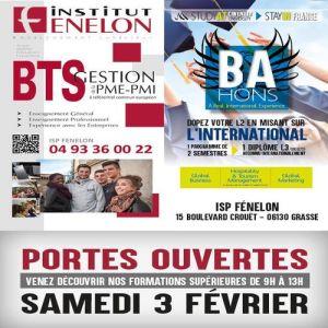 Portes ouvertes à Fénelon Grasse - Samedi 3 Février 2018