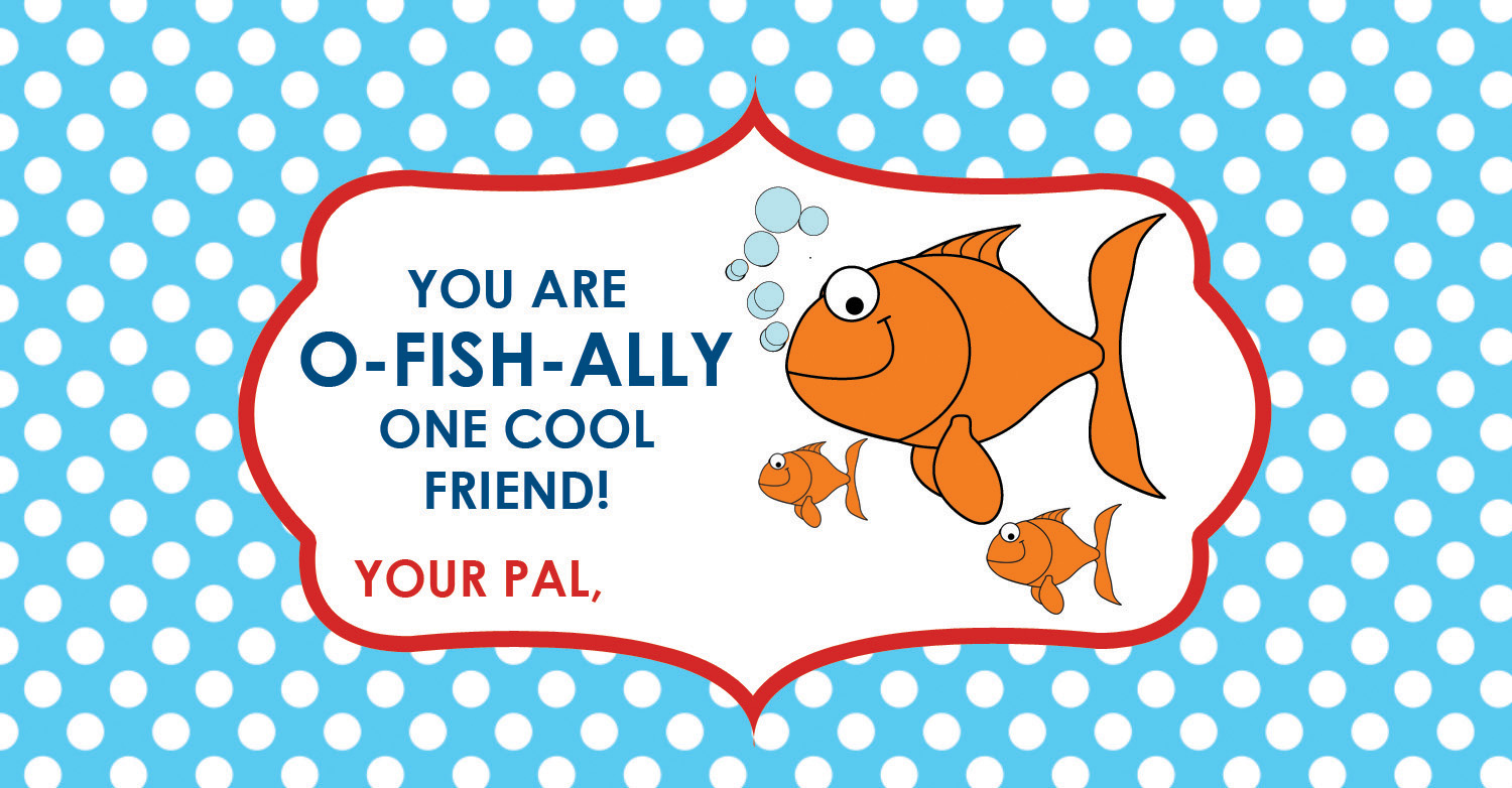 photograph about Goldfish Valentine Printable referred to as Will Oneself Be My Valentine? No cost Valentine Goldfish Printable
