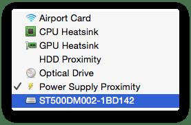 Sensors on iMac
