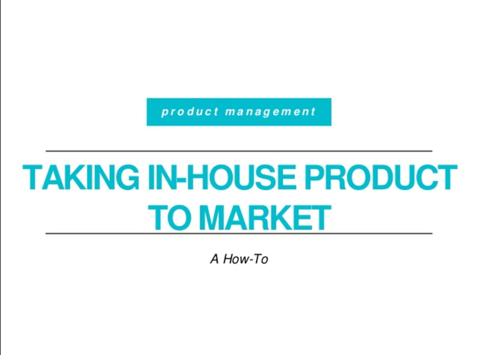 SpeakerDeck – Taking In-House Product to Market