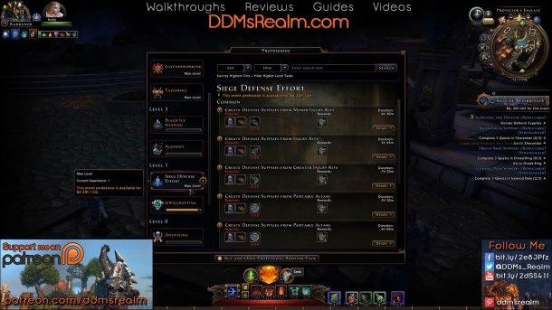 Siege of Neverwinter – Tips Tricks Walkthrough Guide - Crafting Defense Supplies