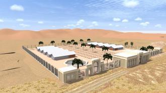 Innovatieve kippenschuur Abu Dhabi