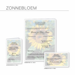 Rouwserie Zonnebloem