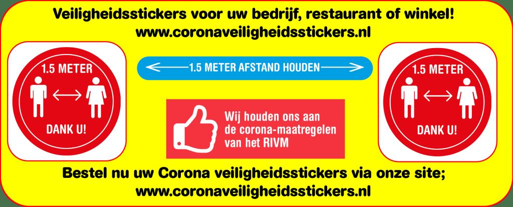 corona veiligheidsstickers