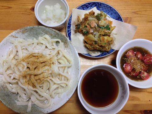 天ぷらつけうどんセット