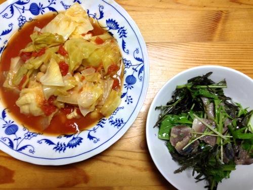 鶏とひよこ豆トマトスープ