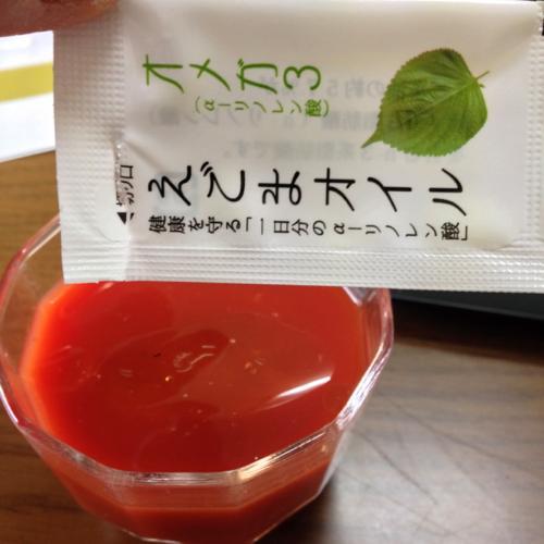 th_トマトジュースに入れました。
