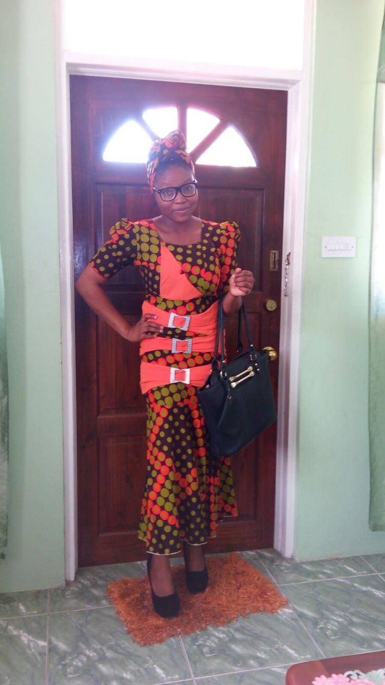 Favour looks so bright in her peach filled Ankara sow. You are beautiful love