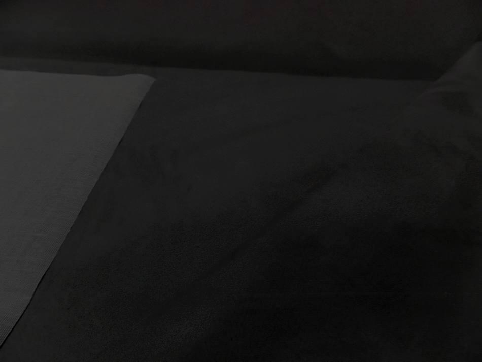 tissu style alcantara imitation daim noir