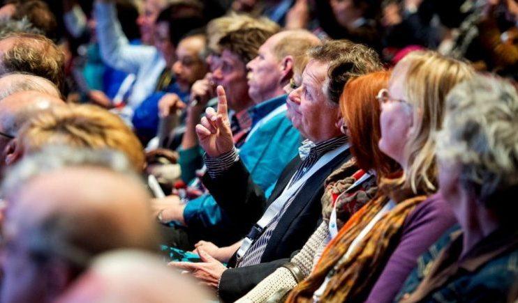 Publiek tijdens de inspiratieplusdagen voor oudere werkzoekenden