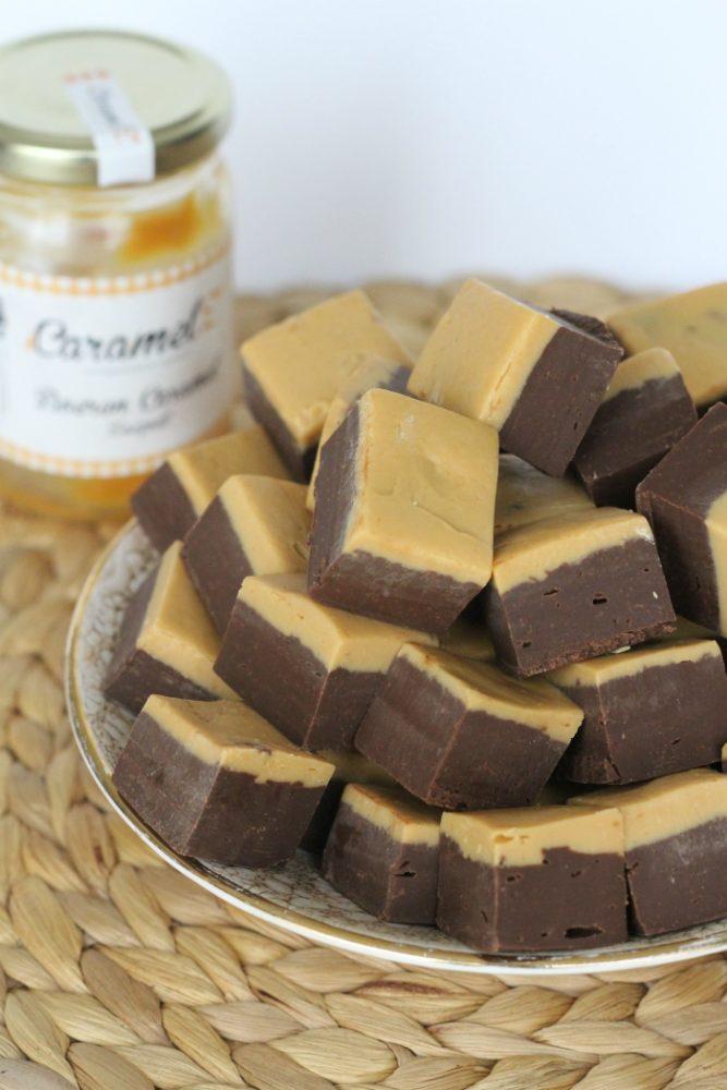 Karamel chocolade fudge