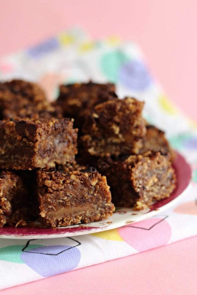 Caramelita: Havermoutkoek met chocolade en karamel