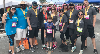 We walked, ran and biked in support of the Pediatric Cancer Research Foundation.