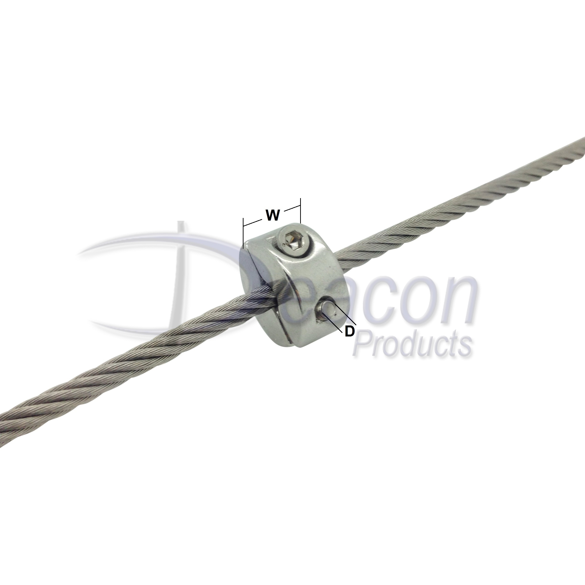 Stainless Steel Wire Rope Stopper – Deacon Products Ltd