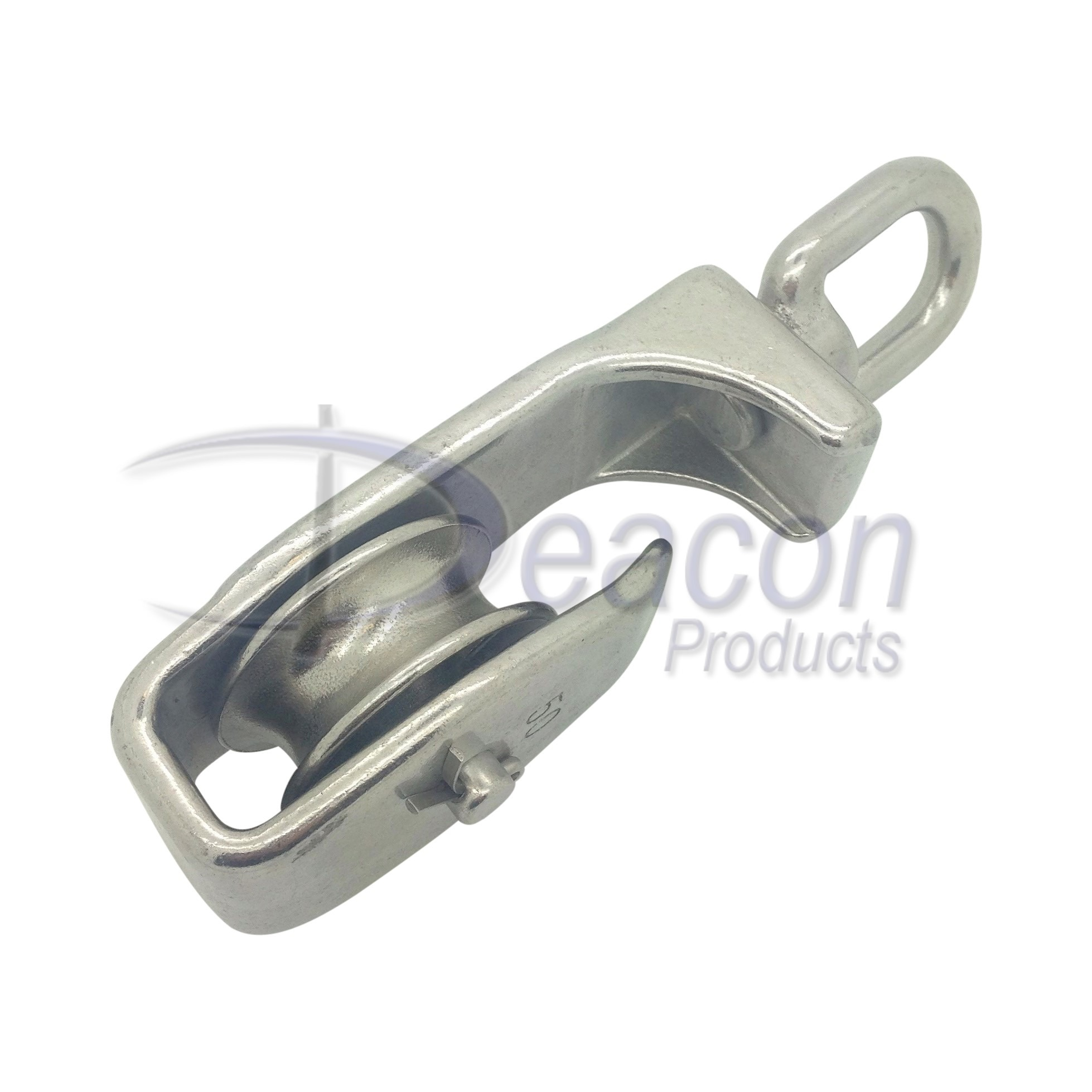 Stainless Steel Single Pulley Block with Open Side | Deacon Products