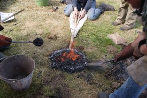 Bowl furnace in action
