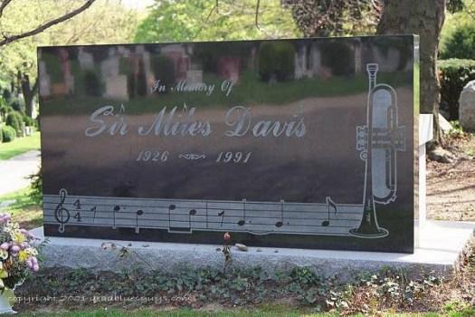 Miles Davis Grave - Marker - Headstone - Blues