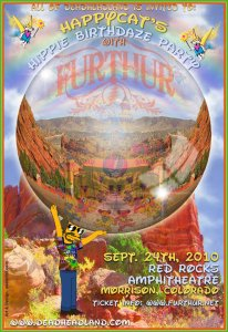 Happycat Hippie Birthday Party by D. Brenner Art and Design