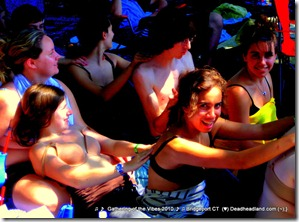 Make Friends at Gathering of the Vibes - this was a spontaneous massage pile!