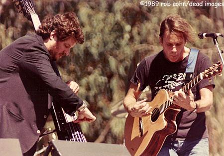 "Bob Weir & Rob Wasserman, September 29, 1989, San Francisco, CA, ""Easy To Slip"" © Robbi Cohn Dead Images"