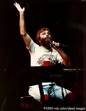©Robbi Cohn, Dead Images | Grateful Dead, Brent Mydland | October 15, 1988, St. Petersberg Florida | Blow Away