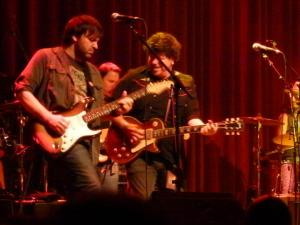 Nathan Dale and Jeremy Plog and Mark Karan with Jackie Greene on his 31st birthday | photo (♥) John Collins and Cathy Bille