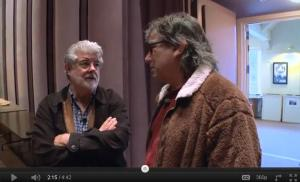 Mickey Hart and George Lucas at Skywalker Racnch 2011