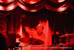 Joe Russo - Bustle In Your Hedgerow 2012-01-27 - Brooklyn Bowl   Photo by Timezoner for Deadheadland