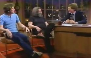 Bob Weir and Jerry Garcia on David Letterman