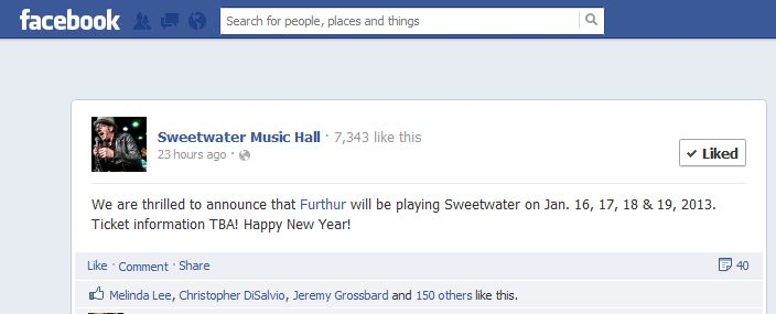 furthur sweetwater