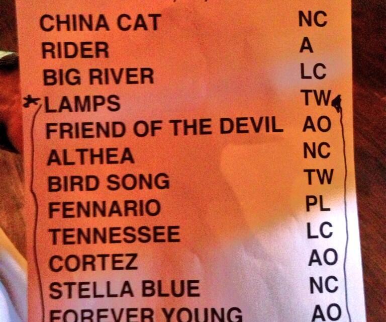 Setlist: Phil Lesh & Friends, Sun. Aug. 11, 2013 Terrapin Crossroads