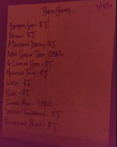 rjrg setlist 20140915