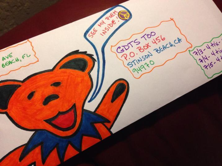Deadhead Envelope art for Dead50 Mail Order (25)