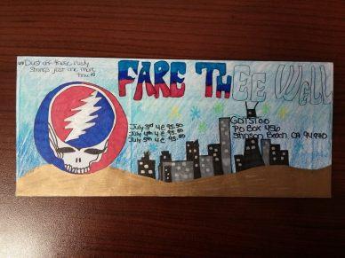 Deadhead Envelope art for Dead50 Mail Order (33)